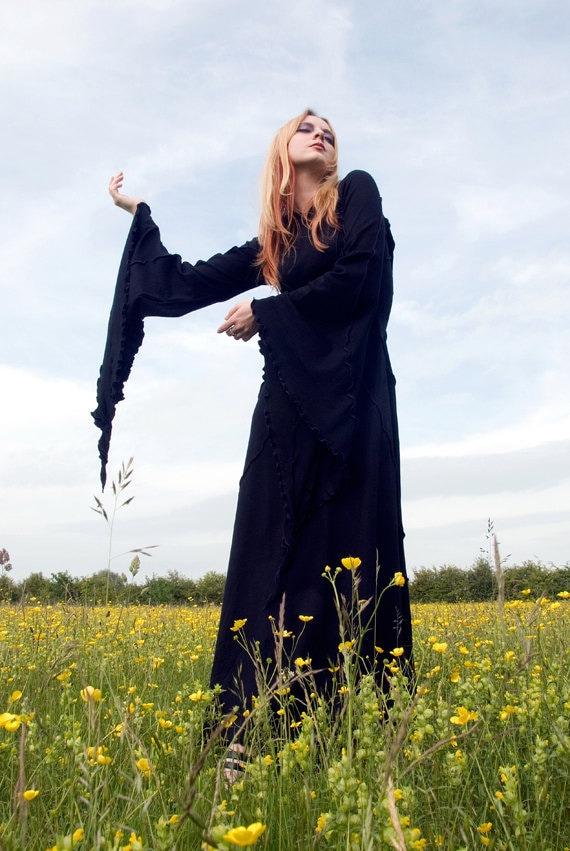 Savannah Desert Dress... Long Black Dress... custom made... For the Fantasy Freak in you