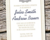 Nautical Knot Wedding  Invitation and Response Card - Digital Design Files
