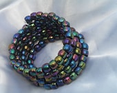 Irresistible  Iridescent  Ray Of Light Memory Wrap Cuff 4.5 Loops, Scene, Cosmic, Rave, Punk By:  Tranquilityy