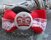 London At  Dusk  Crown The Queen Hair Bow , Hipster By: Tranquilityy