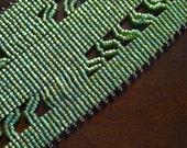 Abalone Cuff Bracelet - Beadwoven Bracelet - Loom Beaded - Snap Bracelet