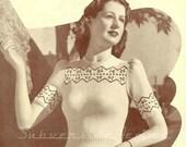 Cherry FairIsle Jumper, c. 1940s - vintage knitting pattern PDF (446)