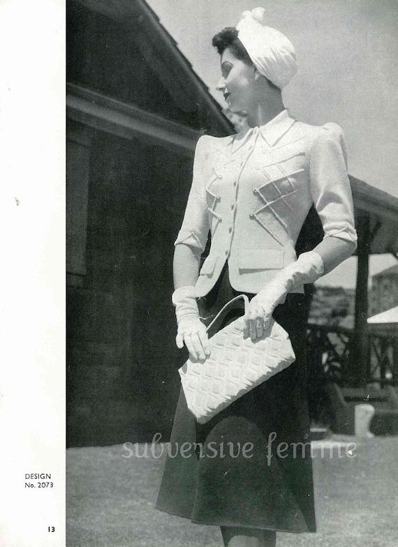 Sunbeam Frock Book, 11 designs c.1942 - Vintage Knitting Pattern booklet PDF