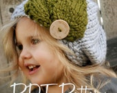 KNITTING PATTERN-Olivia Beret (Toddler, Child, Adult sizes)