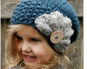 Knitting PATTERN-The Ruby Slouchy (Toddler, Child, Adult sizes)