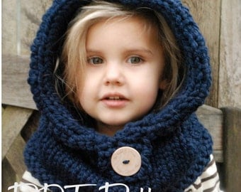 Knitting PATTERN-The Canyon Cowl (Toddler,Child, Adult sizes)