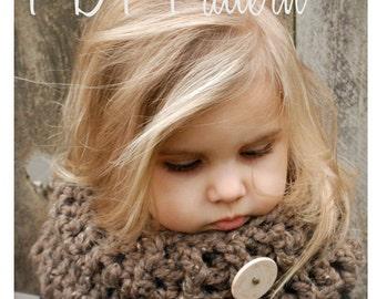 Crochet PATTERN-The Kerrington Cowl (Child, Adult sizes)