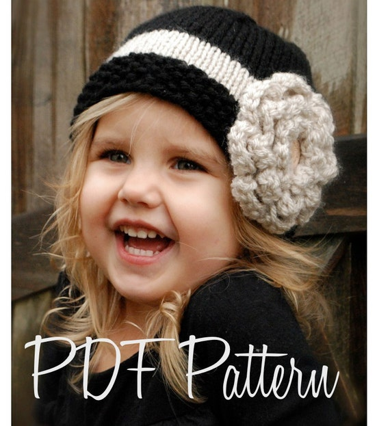 Knitting PATTERN-The Maisie Cloche' (Toddler, Child, and Adult sizes)