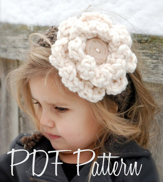 Crochet PATTERN-The Wildflower Warmer (One size fits all)