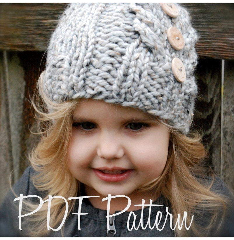 Knitting Pattern For Childrens Hats : Knitting PATTERN-The Irelynn Hat Toddler Child Adult sizes
