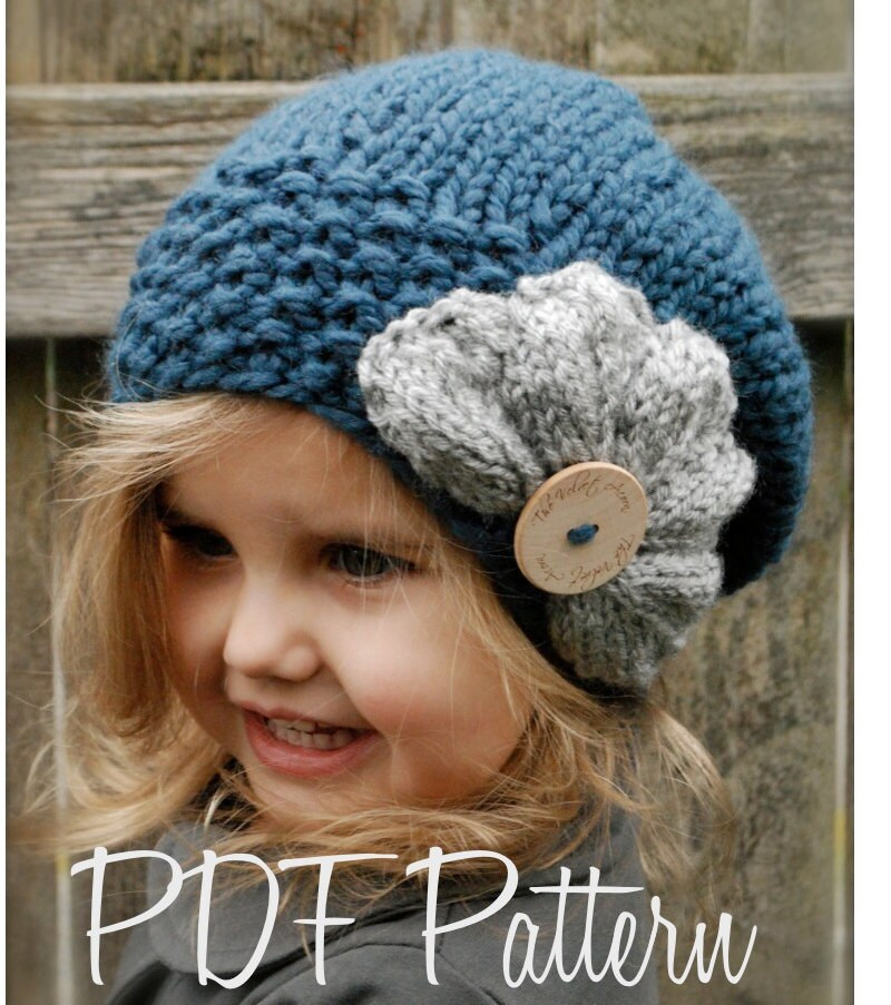 Knitting Pattern Child s Beret : Knitting PATTERN-The Ruby Slouchy Toddler Child Adult