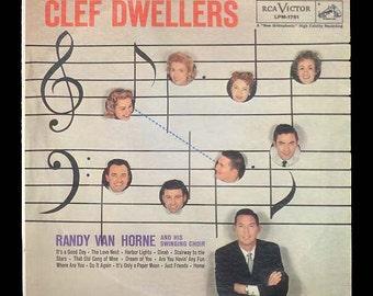 Randy Van Horne and his Swinging Choir - Clef Dwellers - Vintage Record - 1958 RCA LP Vinyl