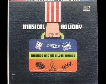 Musical Holiday, Santiago and His Silver Strings, Vintage Coronet LP