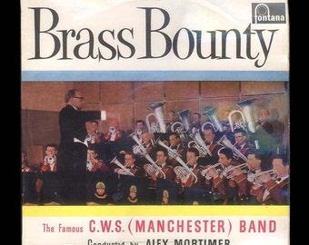 Music. Brass Bounty - The Famous CWS (Manchester) Band - Vintage Vinyl Record Album, 1960 Fontana LP