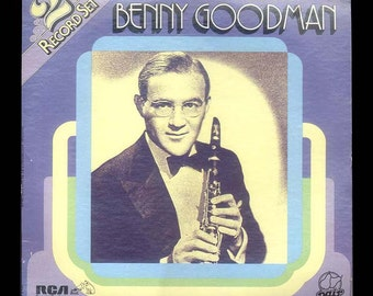 Benny Goodman Original Recordings Vintage Record Album 2 LP Set RCA Pair, Swing Jazz Ella Fitzgerald, Martha Tilton
