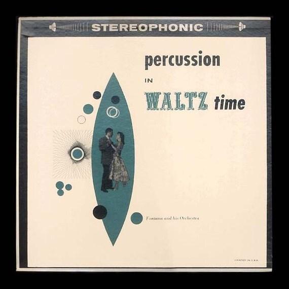 Bongo Waltzes Vintage Vinyl Record Album 1950s LP Fontana and his Orchestra