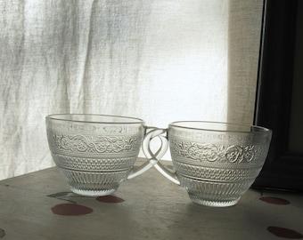 VINTAGE PRESSED GLASS Cups