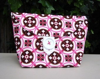 Pouch, Handmade Pouch, Pink Pouch, Makeup Pouch