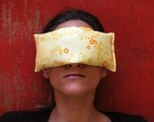 Eye Pillows - Luxury - Home Spa - Eco Friendly Organic Cotton Lavender Flax  in Sunny Yellow