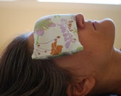 Home Spa - Eye Pillows - Luxury  - Floral - Organic Cotton Lavender Flax - Eco Friendly