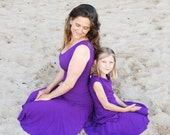 Girl's Skirt - Circle Skirt - Purple - Organic Clothing - Eco Friendly - Several Colors Available
