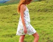 Floral Dress - Short Dress - Sundress - Organic Cotton - Eco Friendly - Medium SAMPLE SALE