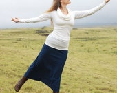 Women's Maxi Skirt - Full Length Skirt  - Eco Friendly - Organic Clothing - Several Colors Available