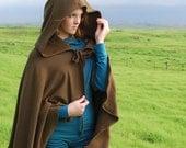 Women's Cape - Michonne Cloak - Costume - Brown  - Organic Cotton - Eco Friendly - Organic Clothing