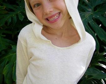 Hoodie for Children - Long Sleeve Shirt - Organic Cotton Hemp - Eco Friendly - Organic Clothing