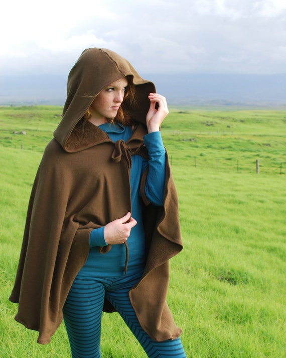 Women's Cape - Michonne Cloak - Costume - Brown  - Organic Cotton - Eco Friendly - Organic Clothing