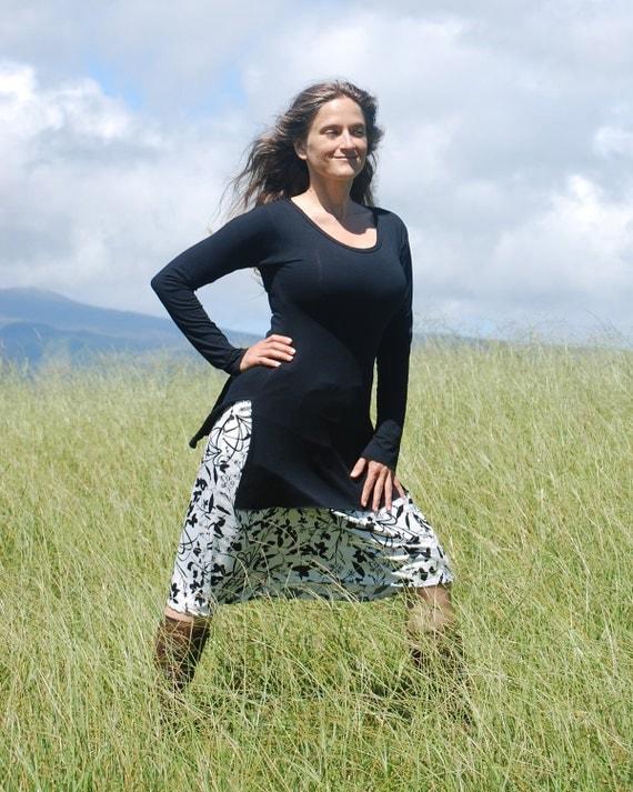 Tunic Length Shirt - Long Sleeve - Side Slit - Organic Clothing -  Eco Friendly - Several Colors