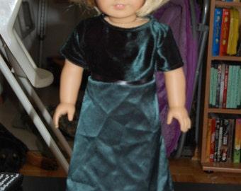 Fancy green dress for 18 inch dolls
