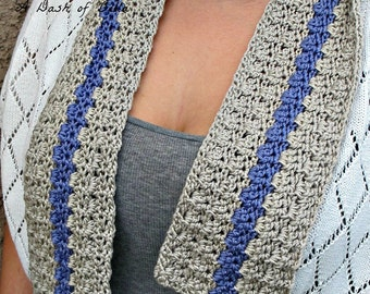 Textured Delicate Spring or Fall Crochet Scarf Pattern