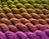 Orchid to Botanical Green ColorShift Yarn Gradients
