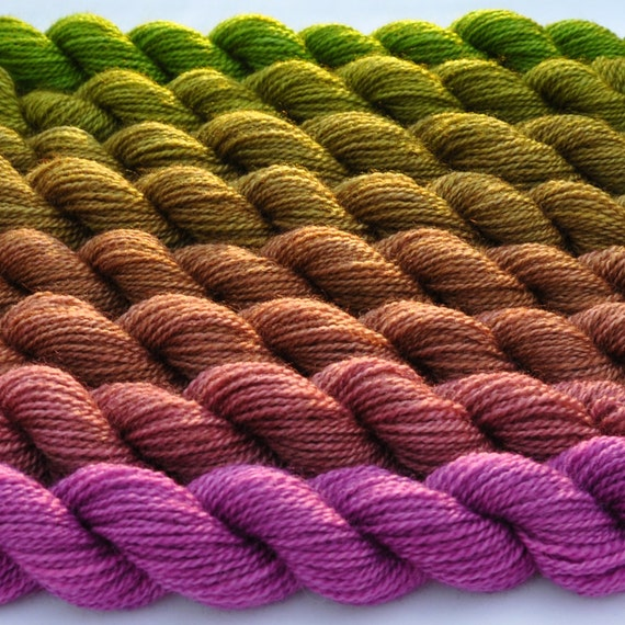 Orchid to Botanical Green Color Bridge Yarn Set
