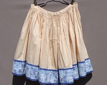 50's Mini Circle Skirt Summer Atomic Print