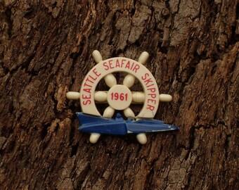 Seattle Seafair Skipper Pin 1961
