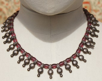 Parisian Boho Silver Amethyst Necklace by Scooter
