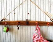 Antique Coat Rack made from a Handmade Farm Yoke