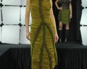 Green Nuno Felted Forest Dress - Silk/Wool - Wearable Art - OOAK