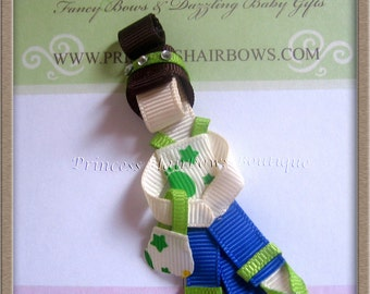 Spring girl hair clip -- Birthday Gift --