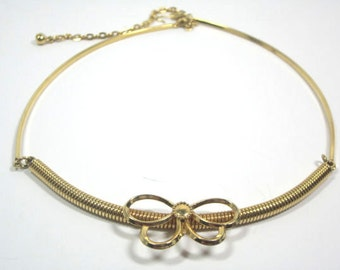 Vintage Sarah Coventry Gold Tone Butterfly Choker