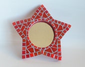 Star Mirror, Mosaic Star Small Wall Mirror, custom mirror