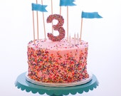 Edible Pressed Sugar Sprinkles Number Cake Topper