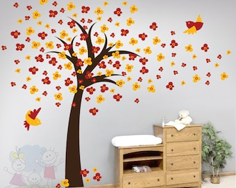 Cherry Blossom Tree Wall Decals - Nursery Wall Stickers  - TRCB010R