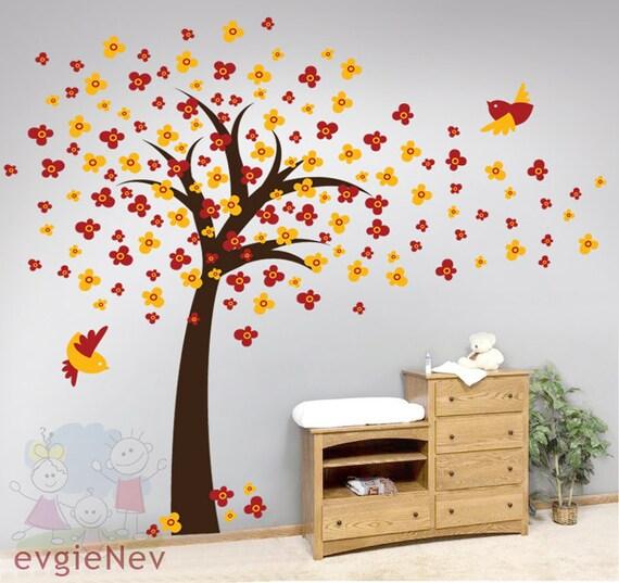 Cherry Blossom Tree Wall Decals - Nursery Wall Stickers  - TRCB010R