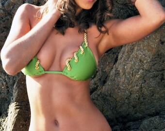 Bathing Suit Nautical Bikini - Moss Green Swimsuit