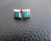 Tourquise Square Earings