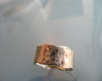 Hammered 14k Gold Ring