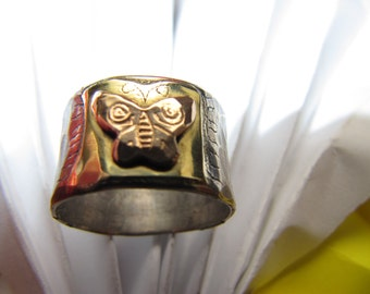 Butterfly Gold Silver Ring